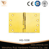 Competitive Polished Door Brass Hinge with Fixed Pin