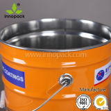 5 Gallon Black Color Metal Bucket/Pail for Chemical Packing