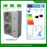 Split Condensor Indoor Work -25c Winter Floor House Heating 12kw/19kw/35kw Auto-Defrost Evi Air Source Heat Pump Efficiency Cop