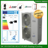 Monobloc Auto-Defrost Heat100~350sq Meter House12kw/19kw/35kw Running at-25c Winter Evi Air Heat Pump Floor Heating Water Heater