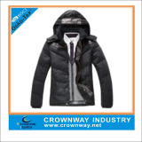 Mens Custom Winter Jacket with Fake Down Padding