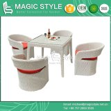 Rattan Garden Dining Set Synthetic Wicker Dining Set with Cushion Patio Chair (Magic Style)