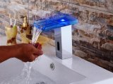 LED Glass Automatic Cold and Hot Faucet