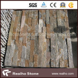 Rusty Yellow Quartzite Culture Stone for Wall Cladding