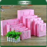 Pink Customized Cardboard Paper Packing Bag