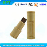 Cylindrical Design Custom Logo Wooden USB Flash Drive (EW535)