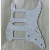 Hsh White Pearloid Strat Pickguard Guitar