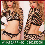 China Popular Hollow out Black Sexy Underwear Sets