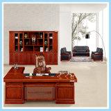 Large Wood Frame Office CEO Desk