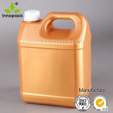 4L HDPE White Square Plastic Petrol Can with Inclined Handle