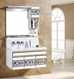 High Gloss Wall Hung PVC Bathroom Cabients Modern Vanity