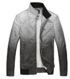 Spring-Autumn Men′s Wind-Proof Water-Proof Fashion Gradient Checked Jackets