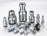 Hydraulic Rubber Hose Fittings with NPT, Dk, Dki, Dkol, Dkos, Orfs, Bsp, Jic, Interlock, Standards