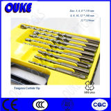 8PCS Tungsten Carbide Straight Tip SDS Drill Bit Set