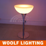LED Light up Antique Round Coffee Table with Stools