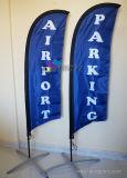 Customized Cheap Nylon Flying Pole Knife Shape Beach Flag