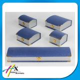 Elegant Design Blue Jewelry Box Set for Full Set Jewelry with Metal Lock