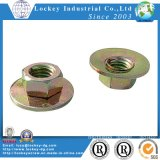 Carbon Steel Large Flange Nut Yellow Zinc
