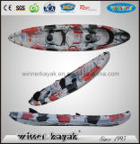Double Seats Sit on Top Fishing Plastic Kayak