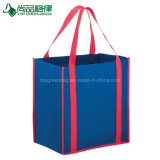 Reinforced Eco-Friendly Custom Two-Tone Reusable Non-Woven Bags Tote