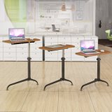 Height Adjustable Wooden Folding Laptop Desk