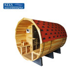 Great Sauna Bath Portable Barrel Sauna with Waterproof Fiber Glass Tile