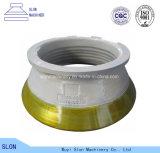 High Manganese Steel Metso Nordberg Symons Sandvik Terex Telsmith Pegson Svedala Concave Cone Crusher Parts