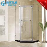 Frameless Bathroom Diamond Shape Stainless Steel Shower Room (BL-Z3502)
