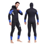 Men′s Blue Neoprene Two Pieces Wetsuit for Diving