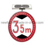 LED Solar Speed Limit Traffic Sign