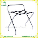Metal Luggage Rack with Silver Chrome for Hotel