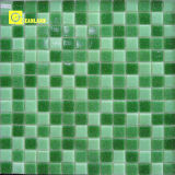 Cheap Homogeneous Green Glass Mosaic with Bathroom Tiles