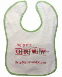 Cheap Cotton Customized Logo Printed Promotional White Soft Baby Bib