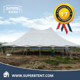 Peak Pole Tent Set up in Africa for Wedding