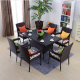 Dining Table and Chair Tables and Bar Stools Leisure Rattan Wicker Table Garden Furniture Sets Z564