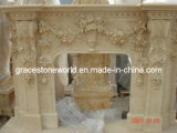 Nice Carved Marble Fireplace Mantel