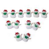 Snowman Soft PVC Shoes Buckle for Kids Shoe Decoration