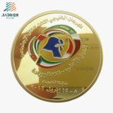 Free Sample Wholesale Paint Shiny Gold Sports Custom Metal Coin