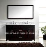 "60"" Double Sink Solid Wood Bathroom Vanity in Espresso SD0664"