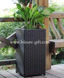 Fo-9405 Square Rattan Flower Pot for Garden