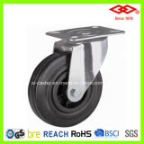 """8"""" Swivel Plate Black Rubber Industrial Castor Wheel (P101-31D200X50)"""