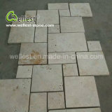 Honed Finish Natural Beige Travertine French Pattern with Good Quality