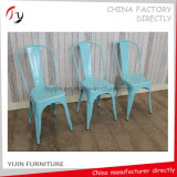 Hotel Cheap Stackable China Light Blue Banquet Steel Chair (TP-33)