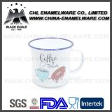Promotional 250ml Kids White Enamel Cup with Customized Logo