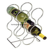 Metal Wine Display Holder for Kitchen Countertops 6 Bottles