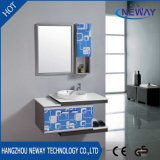 Classic Wall Steel Bathroom Furniture Cabinet with Side Cabinet