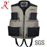 Multi-Pockets Style Fishing Vest with Ce Certificate (QF-1908)