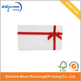 Red Ribbon and Balck Liing White Packing Box (QY150032)