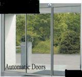Silver Aluminum Frame Auto Sliding Door