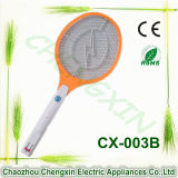 White Handle Flash Light Design Mosquito Swatter Racket Insect Killer